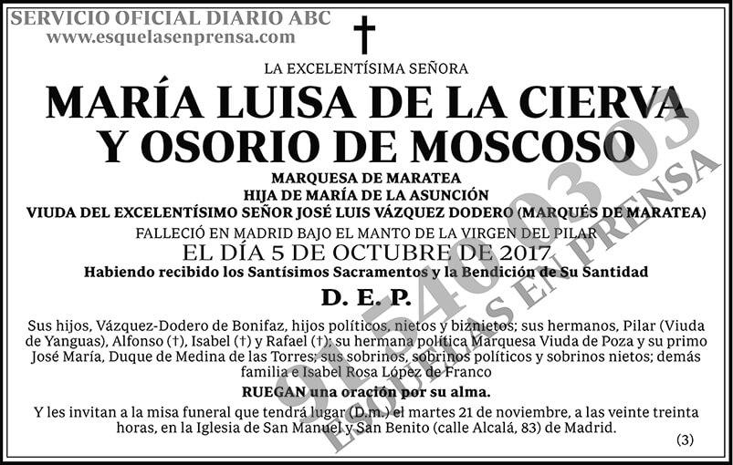 María Luisa de la Cierva y Osorio de Moscoso